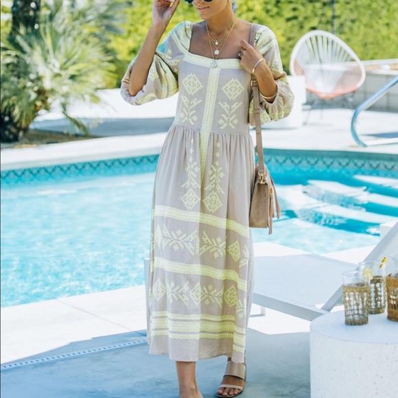 VICI Linen Blend Dress